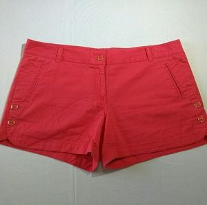 The Limited orange shorts w decorative buttons 12
